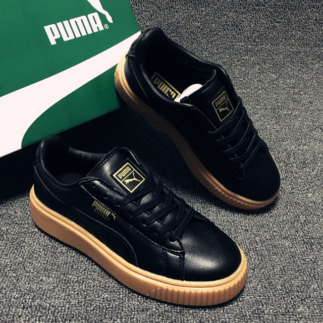 80148dd2a6b0 New PUMA FENTY Suede Cleated Creeper Womens First Generation Rihanna  Classic Basket Suede Tone Simple Badminton Shoes Siz35.5-39