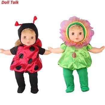 Ropa de muñeca de conversación para muñecas de 43cm juego de traje de animales de dibujos animados para muñecas Reborn de 18 pulgadas abrigo de escarabajo para el uso del juguete