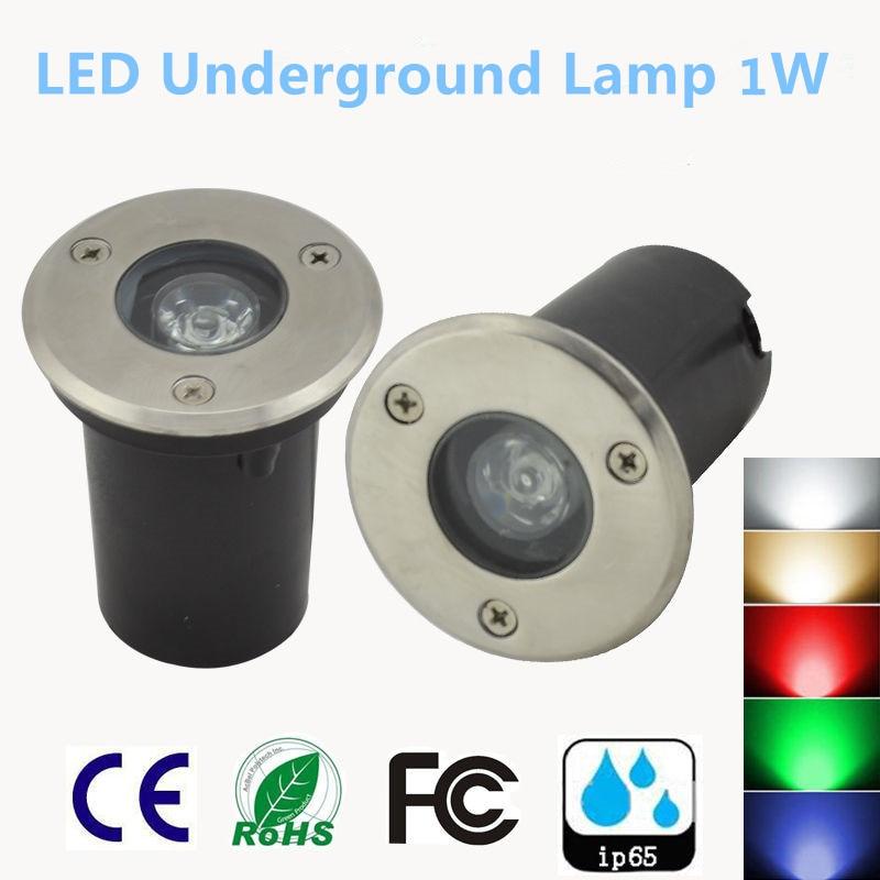 2PCS New IP67 Waterproof 1W AC 85-265V 12V LED Outdoor Ground Garden Path Floor Underground Buried Yard Lamp Landscapebulb Light