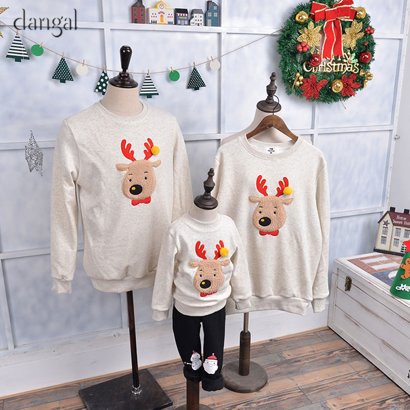 Christmas Clothing for Family Children Kids Christmas Sweaters Family Winter Autumn Couple Sweater Loose Tick Long Sleeve