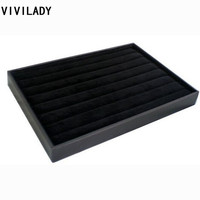 35 24cm Black Velvet Jewelry Display For Ring And Earrings Free Shipping