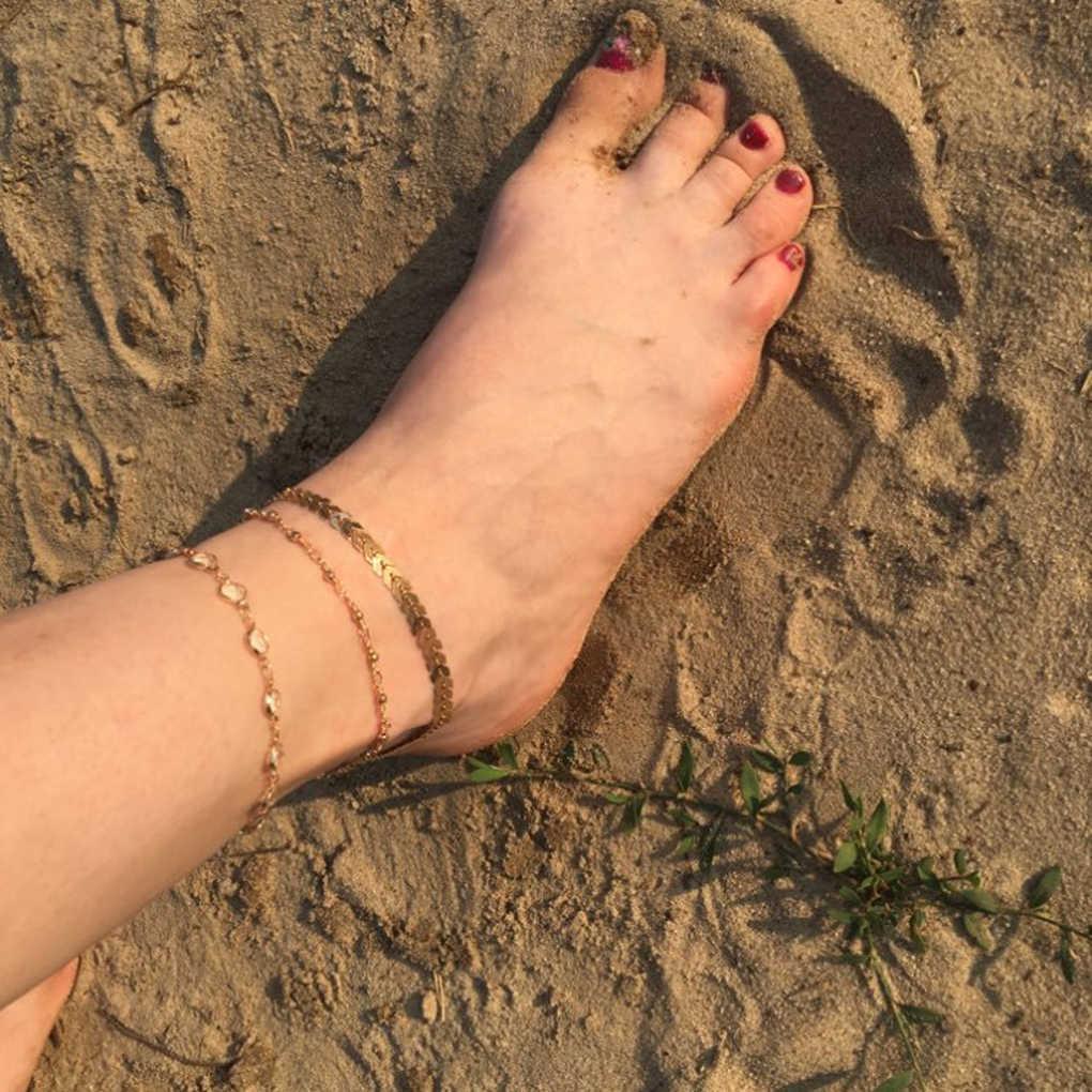 Женский Кристалл для девушки Золотой многослойный ножной браслет кисточки ноги браслет ножной браслет украшения Аксессуары