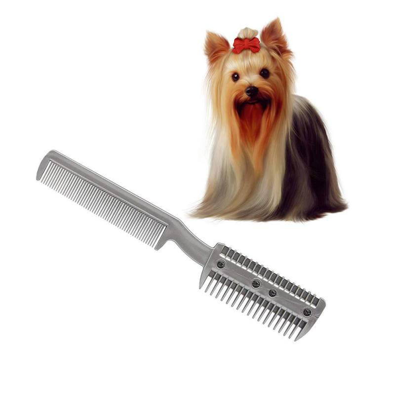 Dog Trimmer Grooming Comb Brush Stainless Steel Pet Dog Cat Pin Comb Hair Removal  Shedding Grooming Flea Comb Tool Pet Product