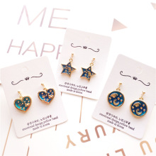 Korea Handmade Vintage Cartoon Fairy Star Moon Heart Women Drop Earrings Dangle Fashion Jewelry Accessories-JQD5