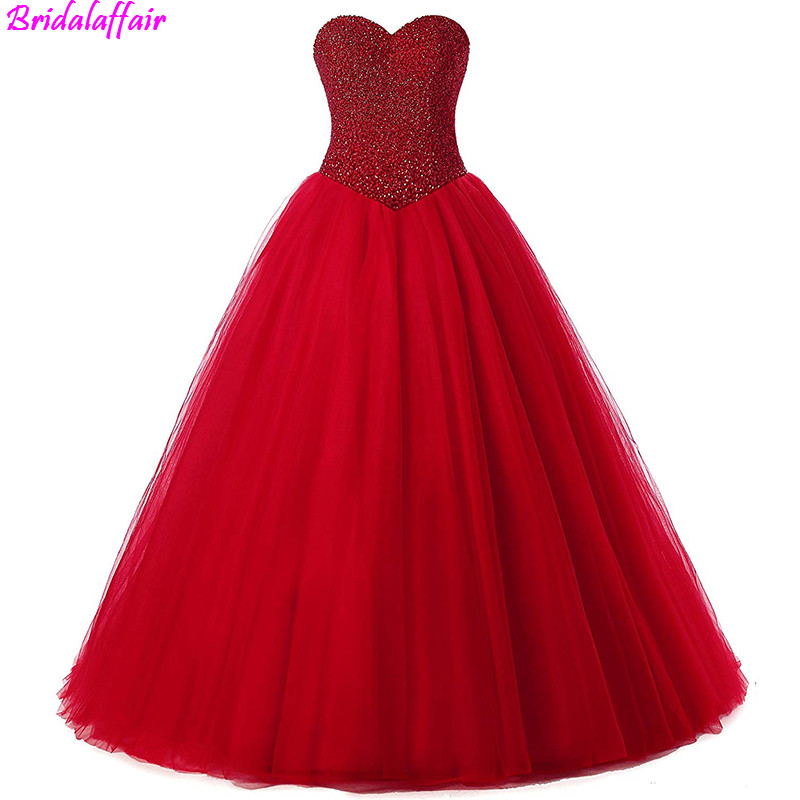 2019 Women's Marriage Red Ball Gown Bridal Wedding Dresses Beaded Casual Wedding dresses plus size Vestido de noivas