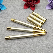 Free logo personalized on pen body gold rollerball BEST business promotinal company event giveaways for your guest friends