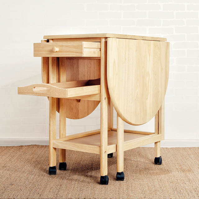 Us 703 85 34 Off Wooden Foldable Dining Table With Wheel Household And Chair Set Simple Multifunction Solid Wood Le Storage Desk In