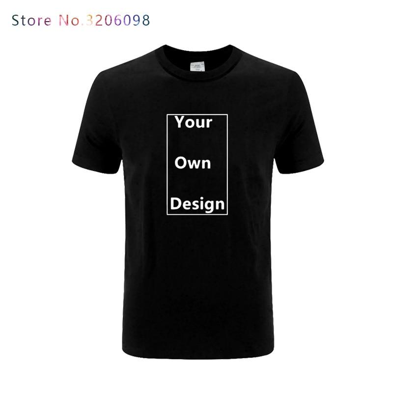2018 summer men's t-shirt short sleeve print custom your own design shirt Modal cotton t shirt