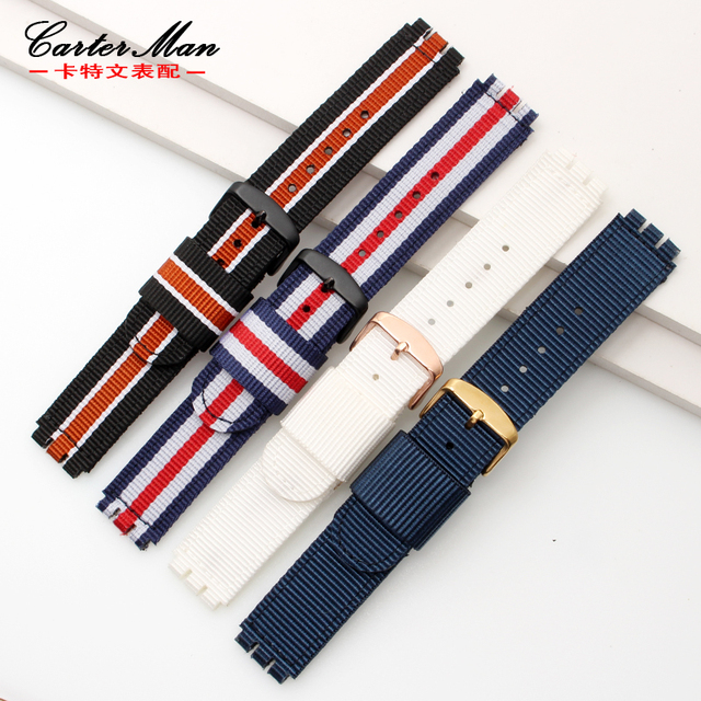 17mm 19mm watch strap nylon watchband a lot kinds colour for Swatch nylon with s