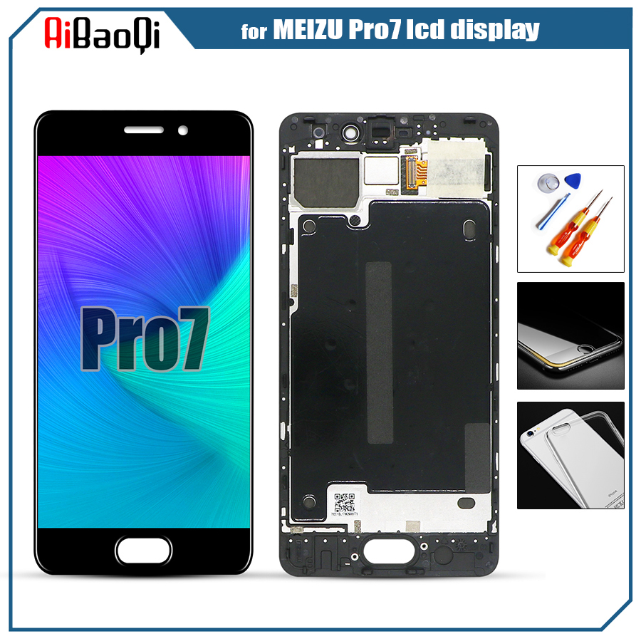 100 Tested Touch Screen AMOLED LCD Display For Meizu Pro 7 pro7 M792M M792H Digitizer Sensor