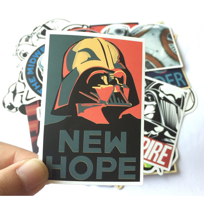 25 Pcs Star Wars Stickers for For Laptop Suitcase Skateboard Refrigerator Wardrobe Wall Guitar Moto Car Bike Kids Toy Sticker in Stickers from Toys Hobbies