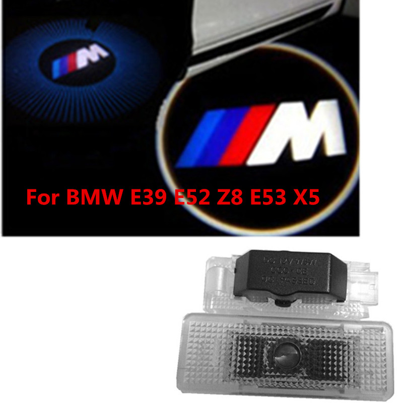 2x LED Car Door Courtesy Laser Projector Logo Ghost Shadow Light FOR BMW  X5 E53 E39 Z8 new 2pcs pair high power led ghost shadow light logo projector vehicle door courtesy laser for bmw brand car styling logo design