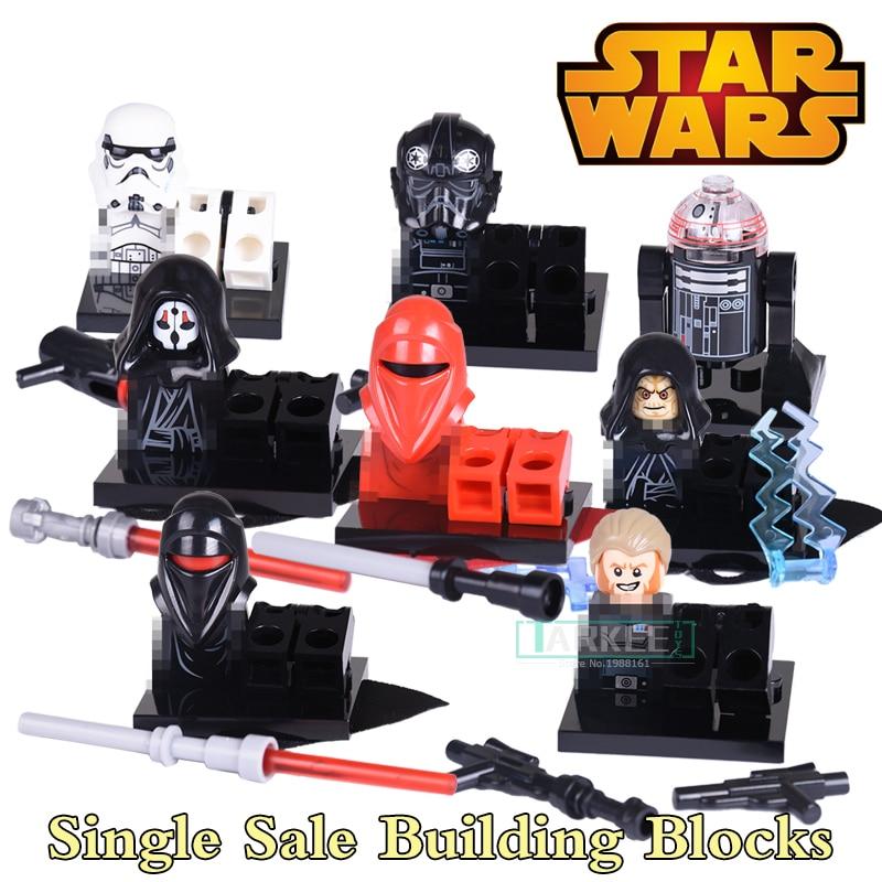 Star Wars Black Shadow Stormtroopers Kallus R5D4 Robot Building Blocks Children Classic Models Bricks Kids DIY Toys Hobbies Gift
