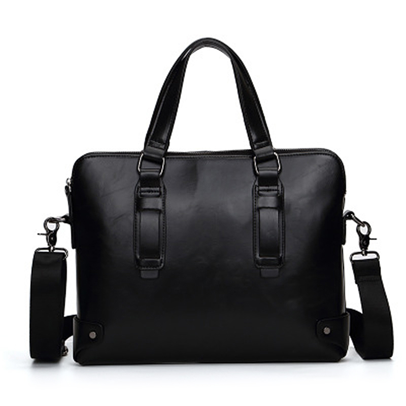 High Quality Men Shoulder Bag Men's Briefcase PU Leather Laptop Bag Business Male Travel Handbag Tote Crossbody Messenger Bags new high quality male leather men laptop briefcase bag 14 inch computer bags handbag business bag single shoulder business bags