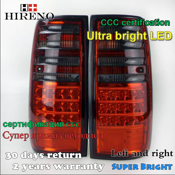 Hireno Tail Lamp for Toyota Land cruiser LC80 FJ80 1990-1997 Taillight Rear Lamp Parking Brake Turn Signal Lights led hireno tail lamp for toyota land cruiser lc70 fj77 78 79 rj77 1991 1996 taillight rear lamp parking brake turn signal