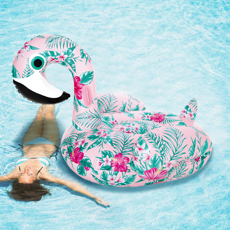 New 60Inch Giant Inflatable Swan Pool Float Ride-On Floral Print Flamingo Swimming Ring Holiday Party Water Toys Boias PiscinaNew 60Inch Giant Inflatable Swan Pool Float Ride-On Floral Print Flamingo Swimming Ring Holiday Party Water Toys Boias Piscina
