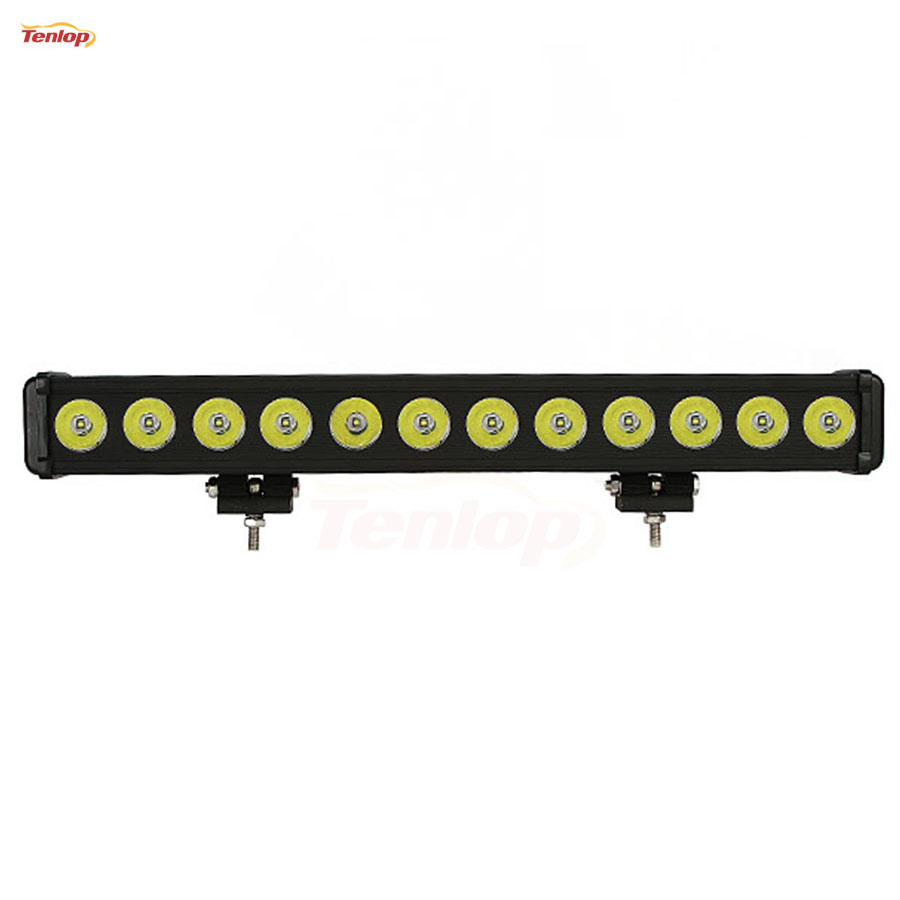 22.5 Inch Single Row 12*10W 120W LED Light Bar for Offroad 4*4 SUV ATV Tractor Boat 12V 24V