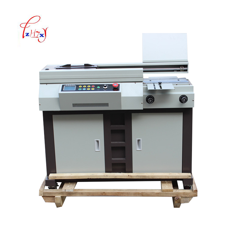 A4 size Automatic glue binding machine 320mm 50S glue book binder perfect binder file financial Electric Binder booklet maker цена