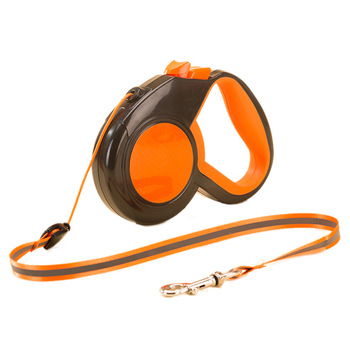3/5/8M Retractable Dog Leash Reflective Tape Leashes Nylon Extending Puppy Walking Running Dogs Leads Traction Rope