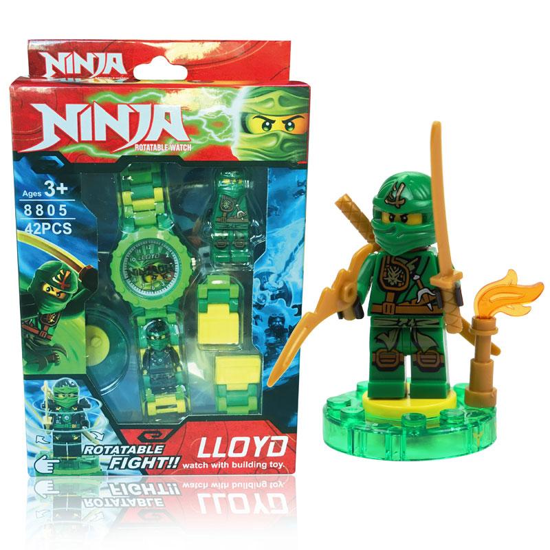 ninjagoed minifigures Nexo Knights Iron Man Spider Man Building blocks Compatible legoes Original box Watch Bricks