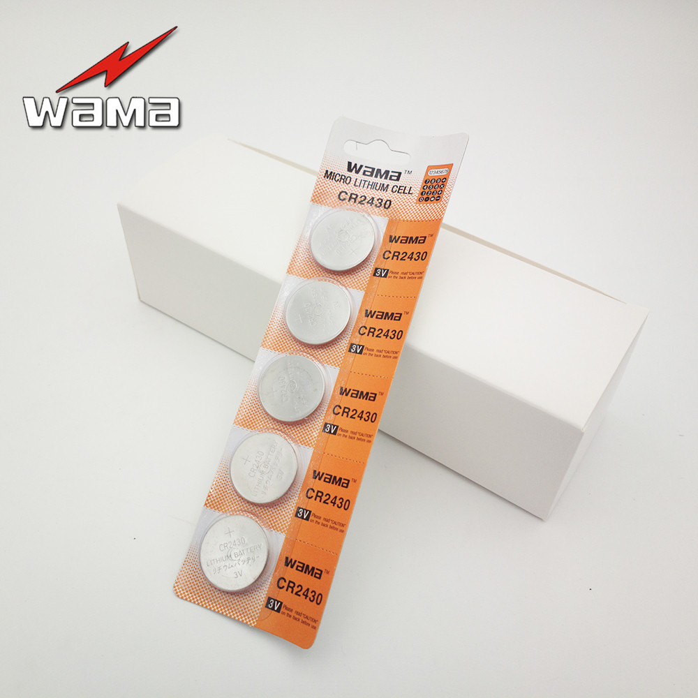 100x Wama CR2430 3 V 280 mAh CR KECR2430 DL2430 BR2430 ECR2430 KCR2430 KL2430 L20 Bateria De Lítio Botão Baterias Celulares