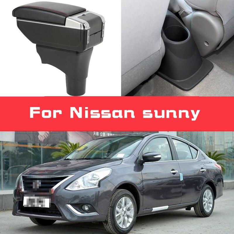 Leather Car Armrest for Nissan sunny sylphy NV2000 Versa