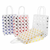 1Pc Paper Gift Bag Fashion Creative Mini Stars Printing Gift Bag With Handles Wedding Birthday Party Decoration Event Supplies