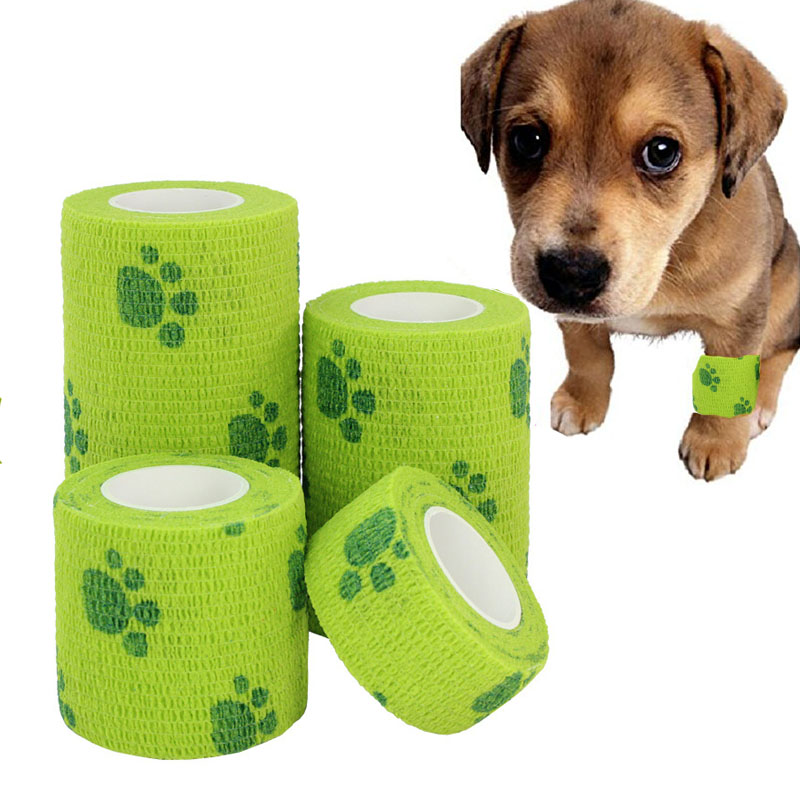 1-rolle 2,5-5-15cm Pet Elastische Selbst-Adhesive Camouflage Bandagen Für Gog Cat Home sport Verstauchung Behandlung Notfall Kits Outdoor