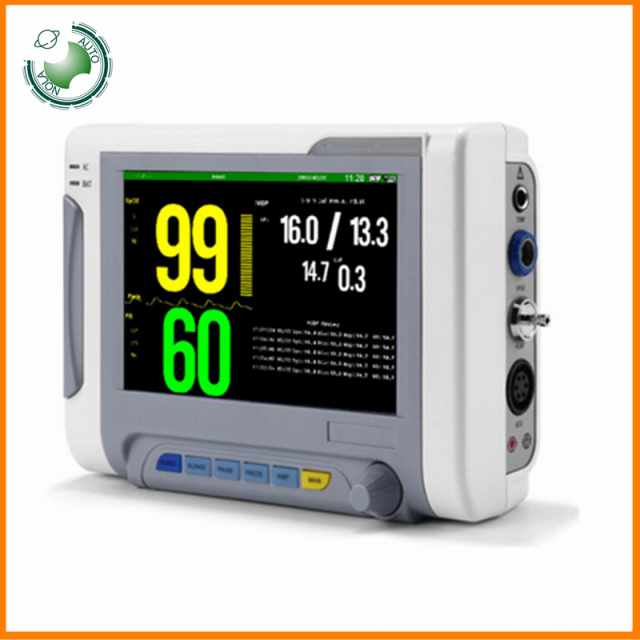 US $399 0 |free shipping Medical equipment 7 inch 6 parameters human use  and animal veterinary use patient monitor -in Blood Pressure from Beauty &