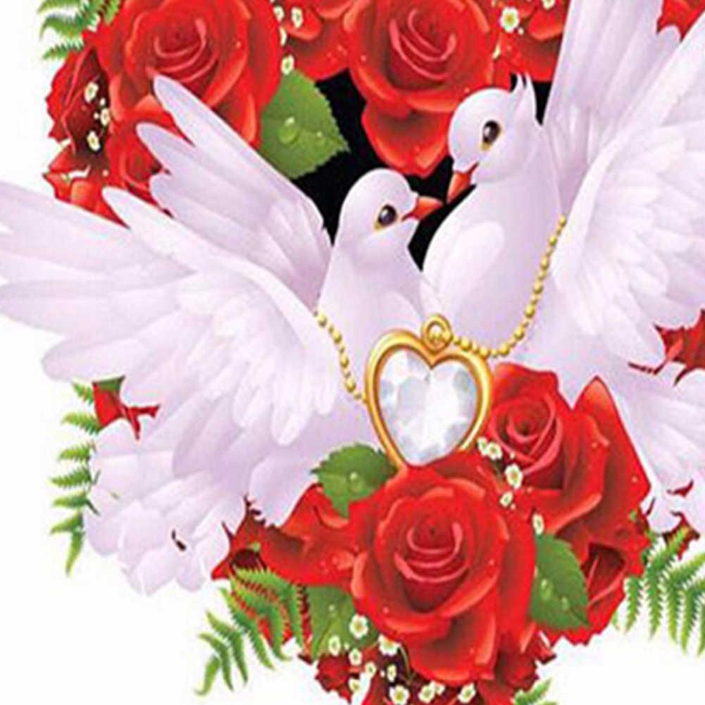 Горячая Новинка DIY Смола Алмазная картина голубь Роза вышивка крестиком полная дрель Настенный декор