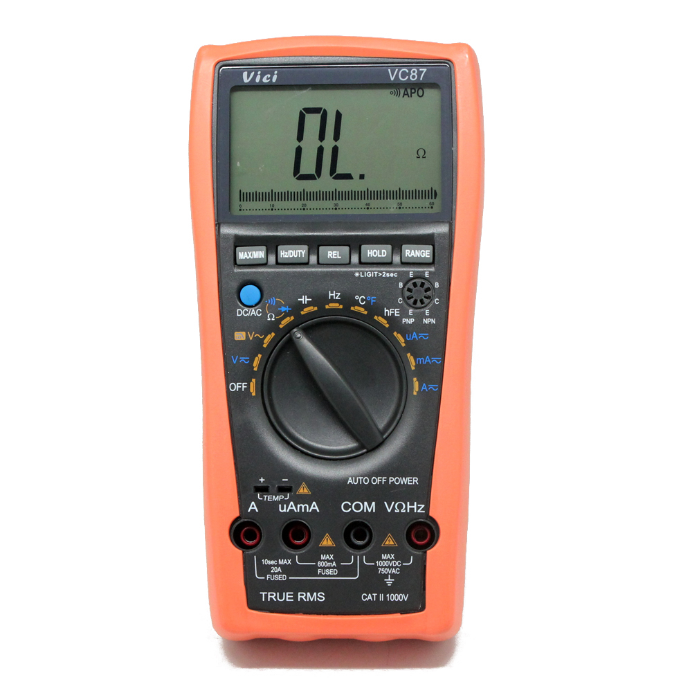 AideTek  New VC87 True RMS digital multimeter for motor drives industrial DMM vs FLUEK