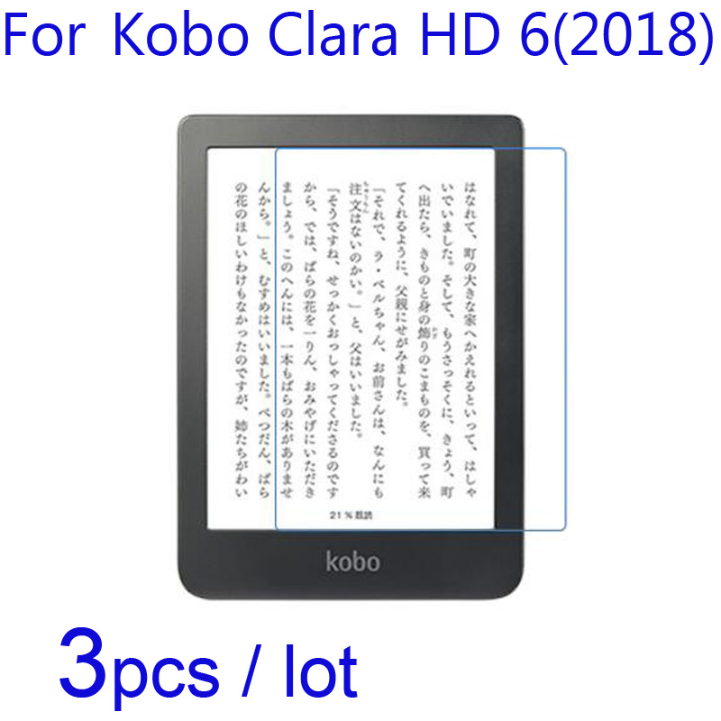 For Kobo Clara HD 6 2018/Forma E-Book LCD Screen Protectors Guard,3pcs/lot Soft Clear/Matte/Nano Anti-Explosion Protective Films