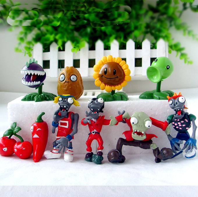 10pcsset VS PV Z Collection plant zombies figure Toys