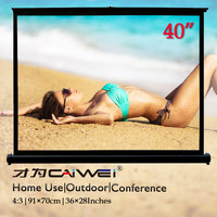 40 inch 4:3 projector screen Table Home Theater ecran projection Foldable LED beamer screen For indoor Outdoor Business