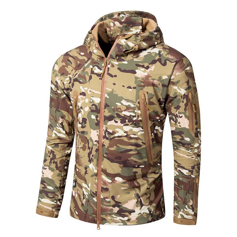 Tactical Camouflage Army Military Uniform Men Combat Uniform Army Men Clothing Soft Shell Outdoor Windbreaker Hunting Jacket hunting jackets waterproof camouflage hoodie men s army military outdoor soft shell tactical jacket military camo army clothing