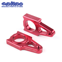 CNC Rear axle Slider blocks Spindle Chain Adjuster Falling Protection cap for honda crf 450 crf 250 CR125 Dirt Bike Parts