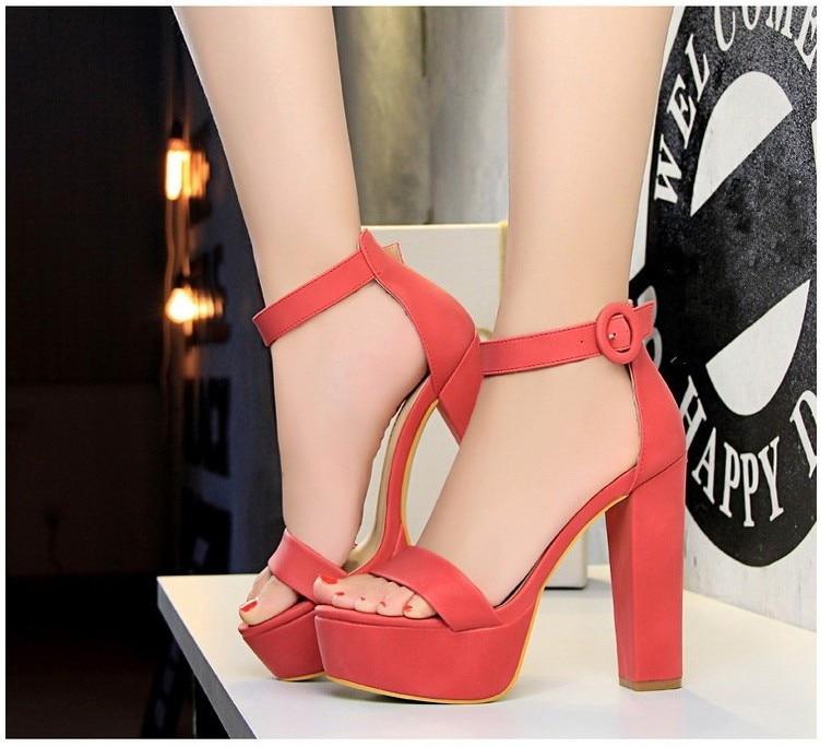 HTB1mpBddwfH8KJjy1zcq6ATzpXaT Brand Elegant sandals Women High Heels Pumps Super high heel 13cm Women's Banquet sandals waterproof platform toe sandals