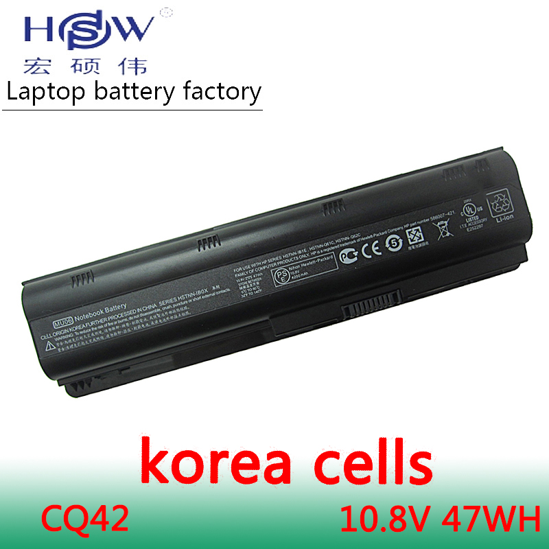 HSW LAptop battery for hp pavilion g6 Batteries DV3 DM4 G32 G42 G62 G7 G72 for Compaq Presario CQ32 CQ42 CQ43 CQ56 CQ62 CQ72 in Laptop Batteries from Computer Office