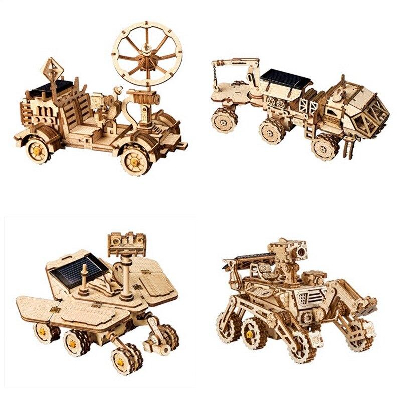 Robotime Figurine Diy Holz Miniatur Hause Solar Dekoration Tisch