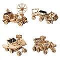 Robotime Figurine DIY Wooden Miniature Home Solar Decoration Table Kids Room Accessories New Year Gift for Boy Kids Children LS