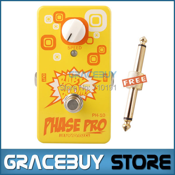 Biyang Baby Boom Vintage Vibe Effect PH-10 Electric Guitar Bass Effect Pedal Phase Pro True Bypass biyang baby boom fz 10 electric guitar effect pedal three models fuzz star distortion true bypass musical instruments