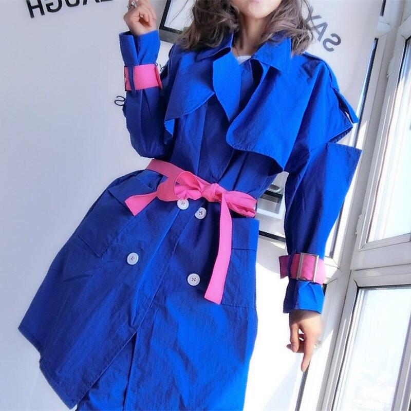 Oversize Giacca Donne del Rivestimento della Molla Giacca A Vento Cappotto Disegni di Patch Harajuku Allentato Bomber Streetwear Casual Cappotto Di Base - 5