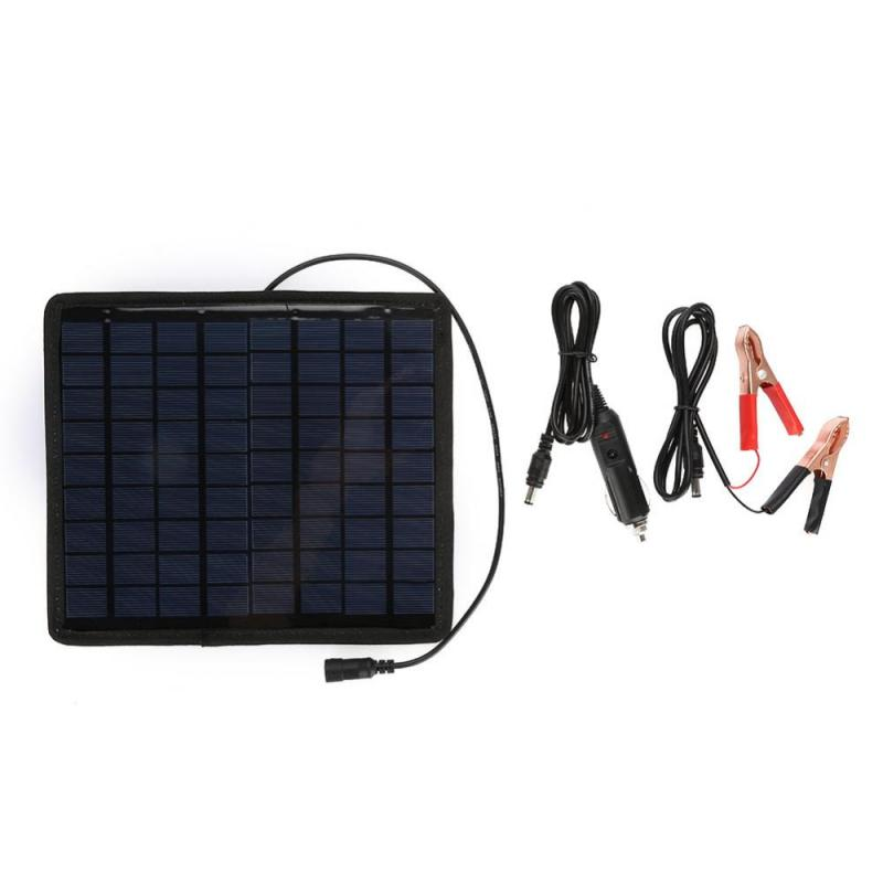 1 PC 18V Portable Solar Panel  5.5W Polysilicon Solar Panel DIY Power Charger for Car Boat Automobile 12V Battery Solar Panel