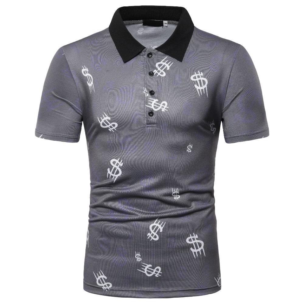 Polo   Shirt Men Summer Tops Tees Casual Men   Polo   Shirt Hip-hop print Short sleeves Men's Clothing New