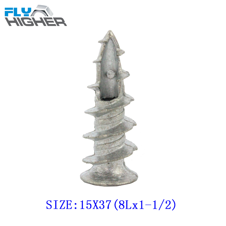 8Lx1-1/2(15x37)  Zamak Easy Anchor /Self-Drilling Drywall Anchor / speed  50pcs/box