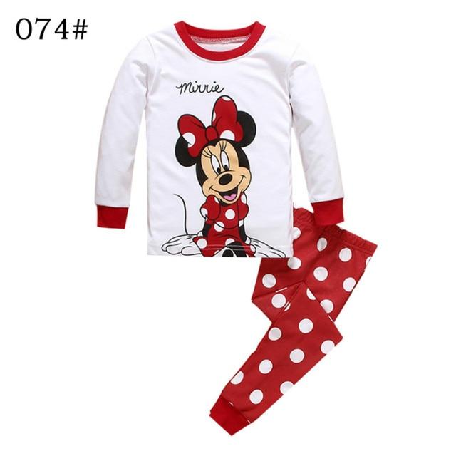 Conjunto de Ropa para Niñas blanco dibujos animados primavera pijamas camiseta  pantalones dos piezas edad 2 92b0820fae34b