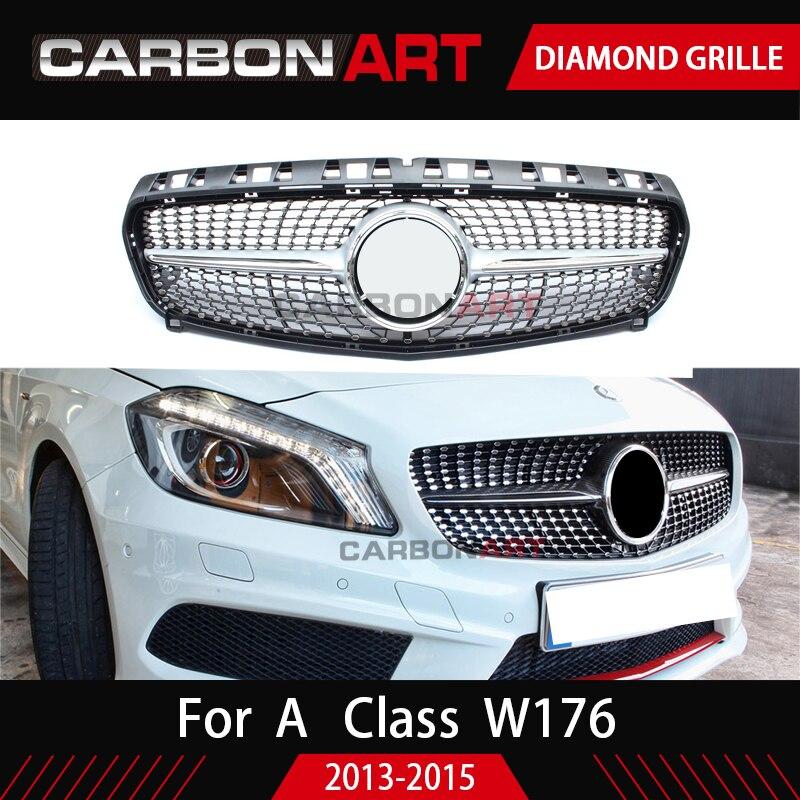Diamond решетка для Mercedes W176 класс решетка алмаза W176 ABS автомобилей Замена аксессуары 2013-2018 A180 A260 A200