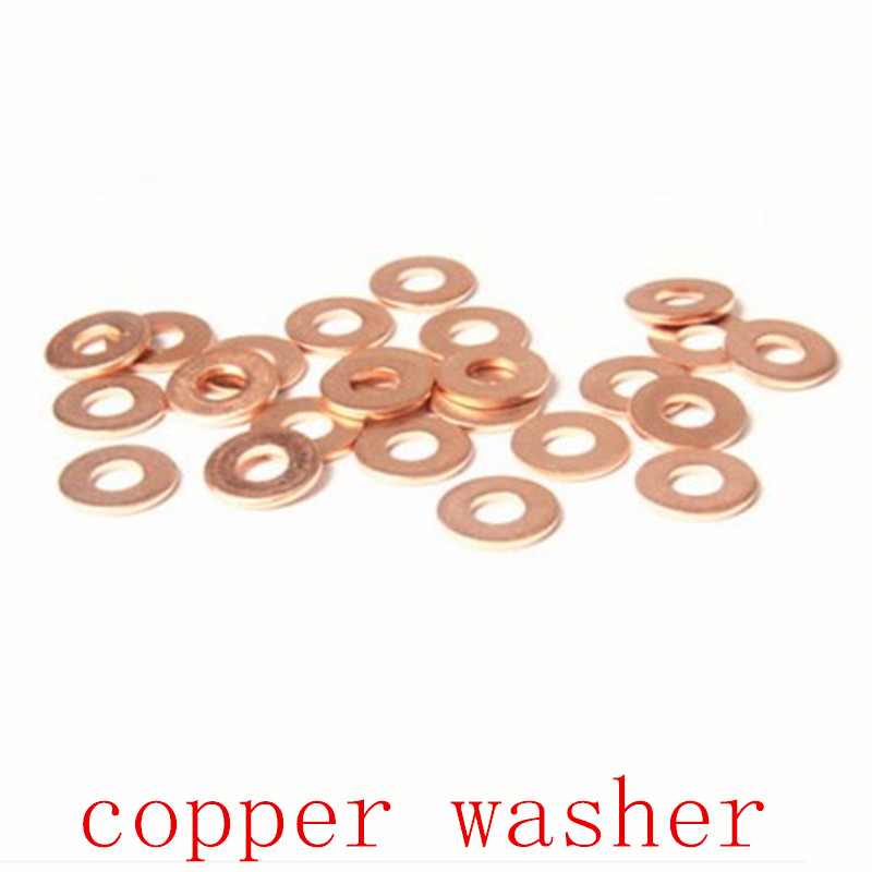 50PCS free shipping M4 M5 M6 M8 M10 Copper Sealing Washer For Boat Crush Washer Flat Seal Ring washer free shipping 50pcs mje15033g 50pcs mje15032g mje15033 mje15032 to 220