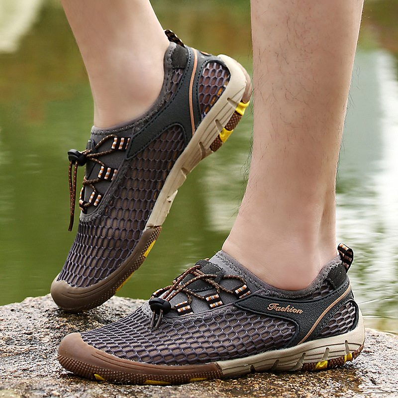 Verano para hombre Casual Zapatos de Los Hombres de Malla Transpirable Descalzo