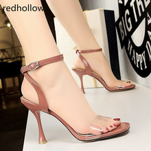 Summer Shoes PVC Women Platform Sandals Sexy Party Super High Heels Female Transparent Crystal Wedding Shoes Sandalia Feminina sandalia feminina 20 cm extreme high heels sandals women transparent cut out platform sandals 20 cm sexy t station shoes wedding